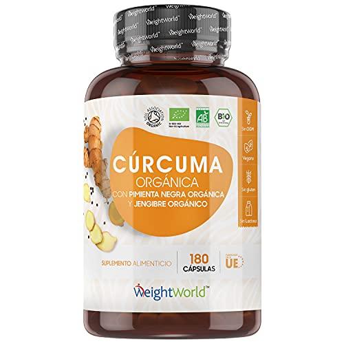 Cúrcuma Orgánica de 1520 mg con Jengibre y Pimienta...