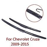 SBCX Escobillas de limpiaparabrisas, para Chevrolet Cruze 2009 2010 2011 2012 2013 2014 2015 Accesorios para automóviles Limpiaparabrisas de Goma Suave