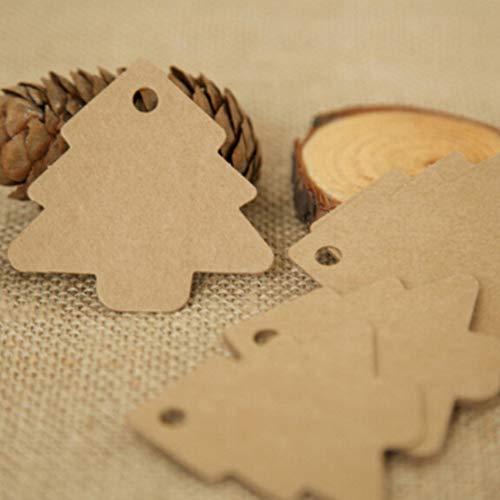 ETbotu trouwkaart, deko hochzeit,50 stks DIY kerstbomen Vorm Tags Hang Papier Kaarten Verpakking Labels voor Feestelijke Decoratie