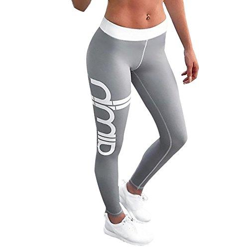 Damen Leggings, Morbuy Sport Gym Yoga Workout Pants Basic Fitness Hohe Taille Jogginghose Trainingshose Skinny Hosen Hose Sporthose (S, C)