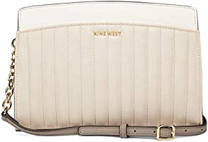 Nine West Handbags Charlize Jetset Crossbody in Buff Multi