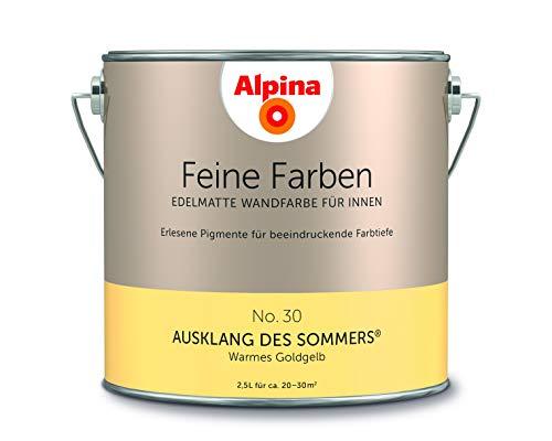 Alpina 2,5 L. Feine Farben, Farbwahl, Edelmatte Wandfarbe für Innen (No.30 Ausklang des Sommers - Wa