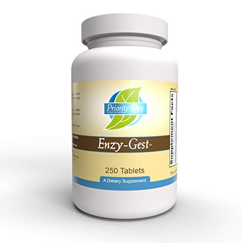 Priority One Vitamins Enzy Gest 250 Tablets - Powerful Two Phase Formula That Provides enzymes to Maintain Healthy Digestion and intestinal Enzyme Activity.*