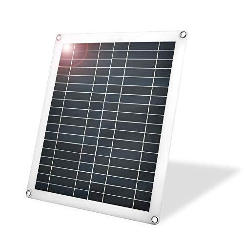 Panel solar flexible de 25 vatios, cargador de paneles solares policristalinos flexibles a prueba de agua para exteriores, autocaravanas, caravanas y sistemas de diseñ