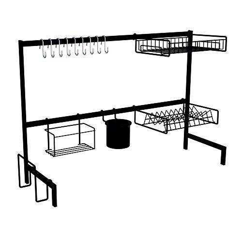 Cozinha Suspensa Modular Autosustentável Escorredor 20 Peças (PRETA)