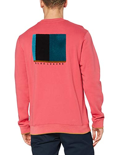 Scotch & Soda Mens Gobelin-Artwork Sweatshirt, 3930 Pink Smoothie, XXL