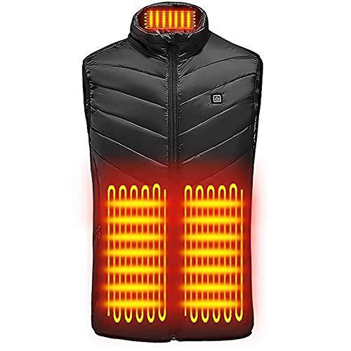 Chalecotermico Chaleco Calefactable USB Chaleco, Chaleco Calefactor De 4 Zonas 3 Engranajes Chaleco Calefactor De Carga USB para Actividades Frías Al Aire Libre Senderismo Ciclismo Y Muchos Más