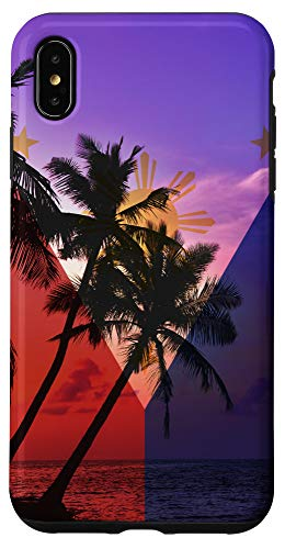 iPhone XS Max Tropical Ocean Vibes Philippines Flag - Filipino Pride Case