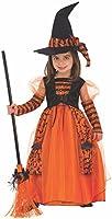 Rubies Disfraz de Bruja Naranja a Rayas para niña