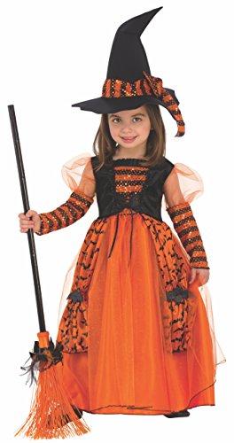 Disfraz de Bruja Brillante para niña, infantil 3-4 años (Rubie's 510567-S)