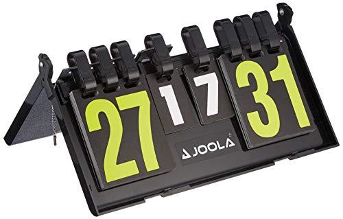 JOOLA Tischtennis Zählgerät Result Kompaktes Zusammenklappbares Langlebiges Kunstoff, Schwarz, 36 x 21 CM