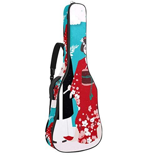 Bolsa para guitarra impermeable con cremallera suave para guitarra, bajo, acstico y clsica, para guitarra elctrica, bolsa para disfraz tradicional Vector