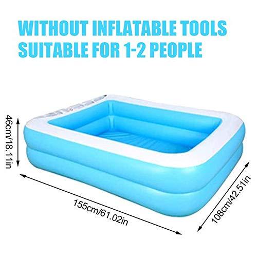 XXCLZ Baby-Pool Kindersommerkinderwasserspielzeug aufblasbare Badewanne Platz unten,L