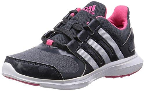 adidas Hyperfast 2.0 K - Zapatillas de Running para niño, Color Blanco/Plata/Gris, Talla 38 2/3