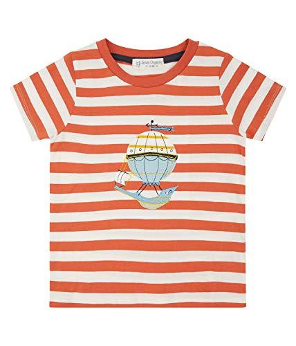 T-shirt pour enfant Orange à rayures Ballon Biologique Taille 92