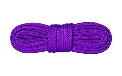 Kaps Schnürsenkel Turnschuhe & Freizeitschuhe, hochwertig, strapazierfähig, hergestellt in Europa, 1 Paar (120cm – 7 bis 9 Schnürösenpaare/Lila)