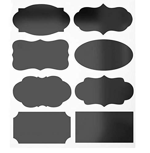 VNDEFUL 80 Pcs Decorative Waterproof Chalkboard Labels, for The Kitchen, Pantry, Mason Jars, Wine Glasses