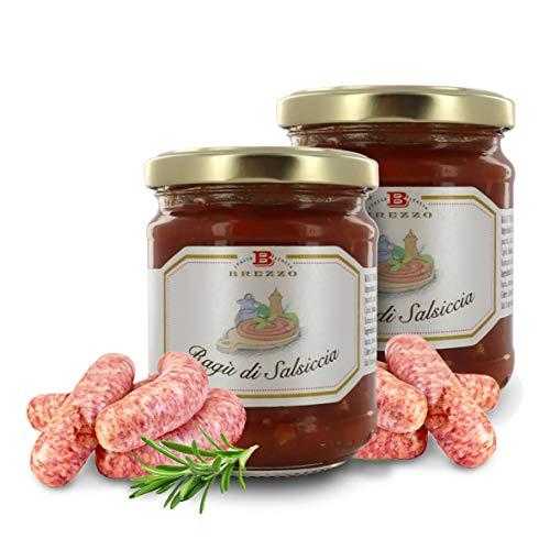 Brezzo Ragú de Longaniza | Selección de Salsas Italianas para Pasta | 180 Gramos