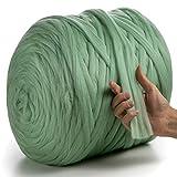 MeriWoolArt 100% lana de merino para punto y ganchillo con hilo de 2 cm de...