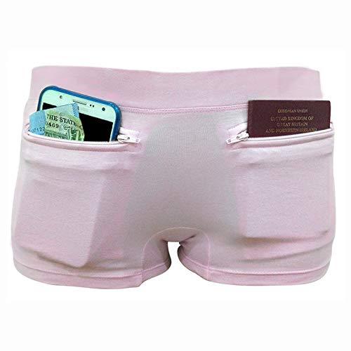 Clever Travel Companion Ropa Interior para Mujer con Bolsillo Secreto (algodón), Mujer, 00-02W, Rosa Claro, XS