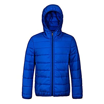 SNOW DREAMS Boys Girls Winter Coats Lightweight Jacket Packable Hooded Puffer Quilted for 2-8 Years(Royal Blue,Size 3T)