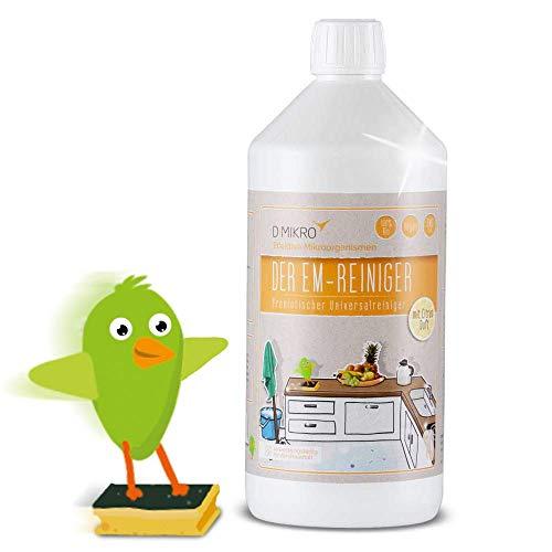 EM-Reiniger mit Citrus Duft - ökologischer Universalreiniger mit Effektiven Mikroorganismen - Frei von chemischen Bestandteilen - 100% biologisch abbaubar, Vegan, Tierverträglich (1 Liter)