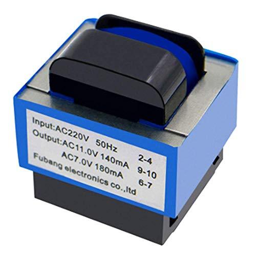 Transformador de horno de microondas WuYan AC 220 V a 11 V/7 V 140 mA/180 mA 7 pines Horno de microondas Transformador de potencia para horno de microondas