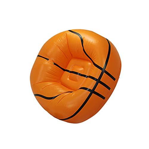 BANGSUN Sofá inflable de baloncesto con forma de tumbona para niños adultos