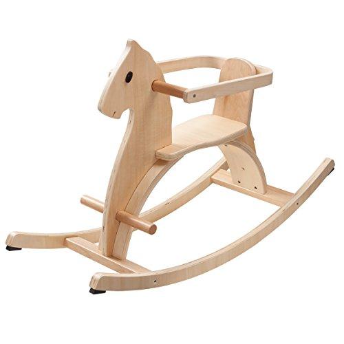 Howa Schaukelpferd aus Holz mit abnehmbaren Haltering Natur lackiert 5594