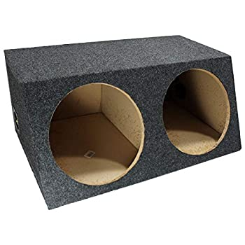 American Sound Connection H212 2 x 12-Inch Deep Angle Round Sub Box  Dual
