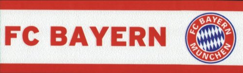 FC Bayern München Bordüre Rot Weiss Borte Tapetenbordüre (4.00 Euro / Meter)