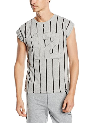 hummel T-Shirt Osvaldo SL Thé L Gris