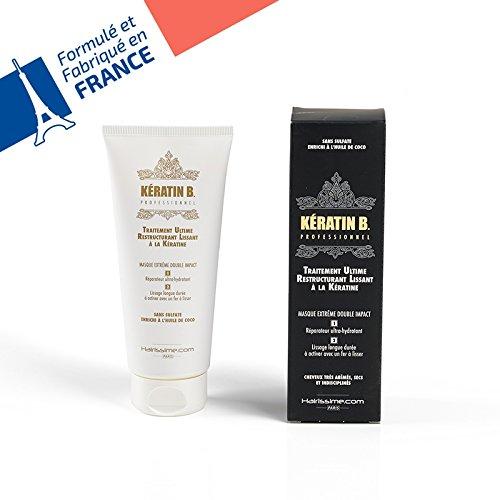 L'liss - 0602561230652 - Keratin B - Masque Soin Keratine Professionnel Sans Sulfates - Fabriqué En France - -