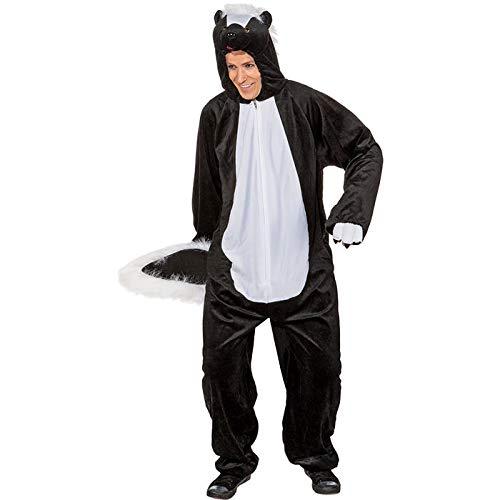 WOOOOZY Herren-Kostüm Stinktier Overall, bis 190 cm