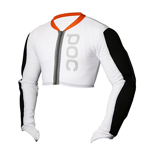 POC Full Arm Jacket Junior Protección brazos, blanco, L