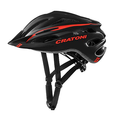 Cratoni Pacer+ Fahrradhelm Schwarz Rot Matt (Größe L-XL)