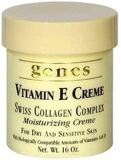 GENES Vitamin E Swiss Collagen Creme - 16 oz (2 PACK - Total 32 oz)