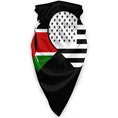 Polainas De Cuello Hombre Mujer Pasamontañas Bandera De Kenia Y Bandera Estadounidense Calentador De Cuello Protección UV Cuello Pañuelo Respirable Bandana para Correr Caza Cámping