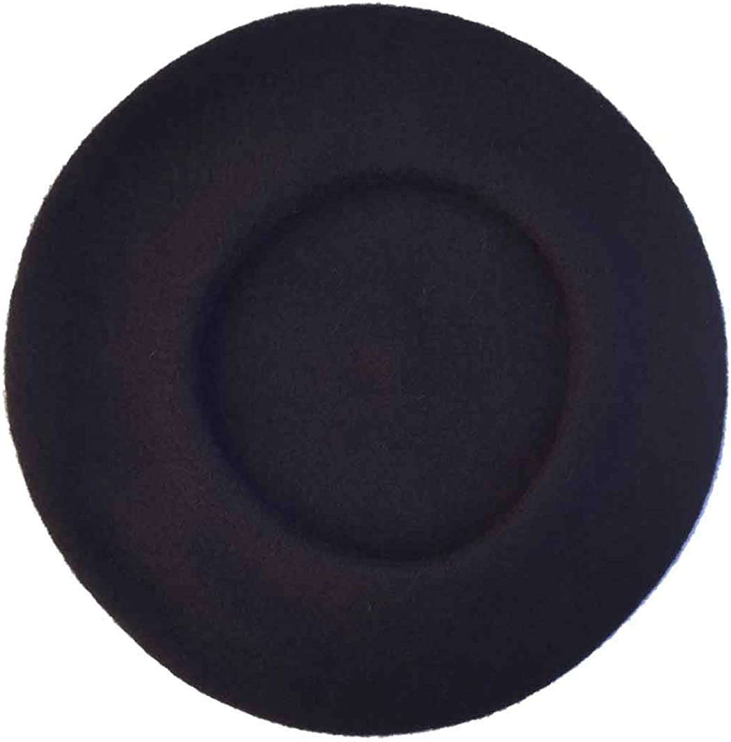 Vieux Carre Traditional French Wool Beret (Black)