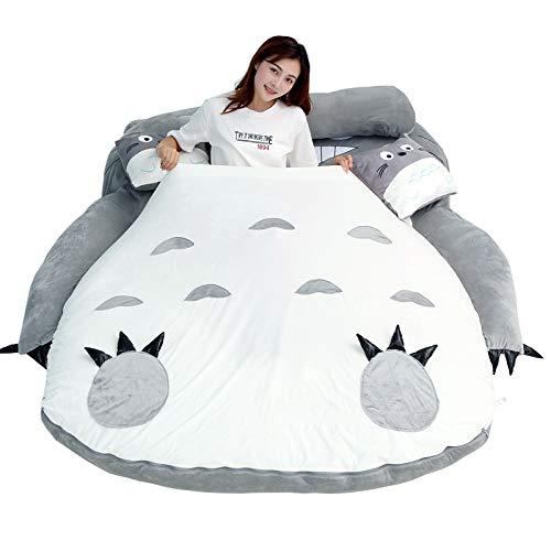 ZZYYLL Fundas Nórdicas Totoro Juego de Ropa de Cama Mi Vecino Totoro para Infantiles,niños y niñas,Fundas de edredón nórdico