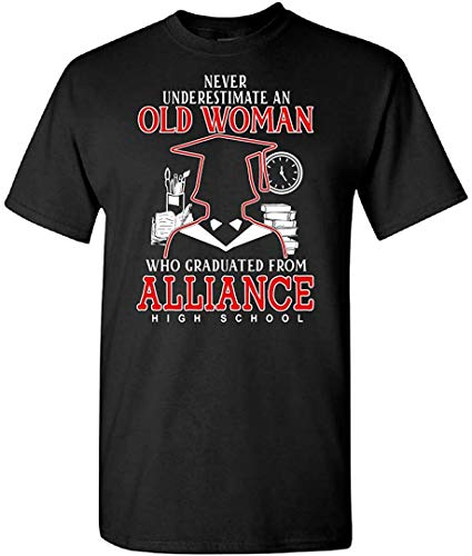 shuibei Never Underestimate an Old Woman Who Graduated from Alliance High School T-ShirtBlackS