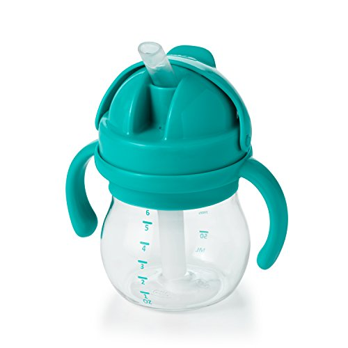 OXO Tot 6 Ounce Transitions Straw Cup with Removable Handles - Teal