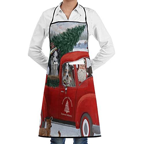 XWJZXS Delantal de cocina impermeable para hombres delantal de chef para mujeres...