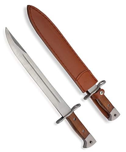 KOSxBO® klassisches AK 47 Messer 39 cm - Abfangmesser - Gürtelmesser - Bajonett - Anglermesser - Machete - Fahrtenmesser - Inklusive Holster