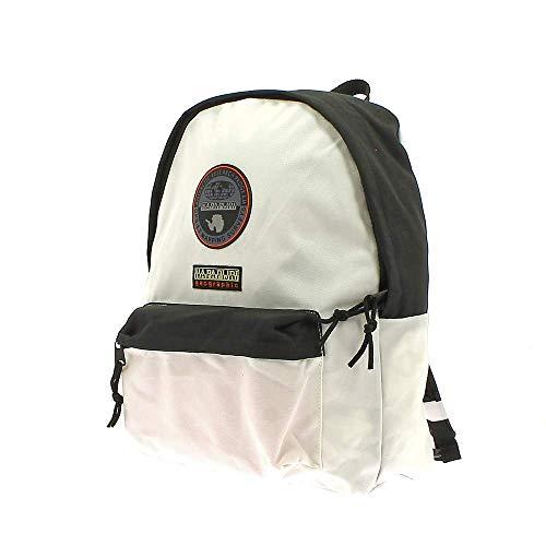 Napapijri Voyage Team - Zaino Unisex Adulto 40 × 32 × 13 cm esclusa tasca frontale adatto per la scuola nonché per essere utilizzato come bagaglio a mano (Bianco Nero)