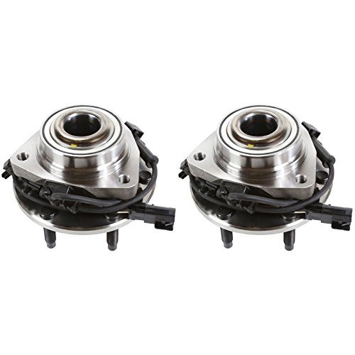 AutoShack HB613190PR Pair of 2 Wheel Bearing Hub Front Driver and Passenger Side Wheel Hub Bearing and Assembly 6 Lugs with ABS Replacement for 2002-2009 Chevrolet Trailblazer GMC Envoy