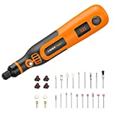 Enertwist 4V Max Cordless Rotary Tool Kit, 3-Speed Lithium-ion Battery Powered Mini Drill with 35-Pieces Accessories, USB Charging Cable, Collet Size 3/32' - Perfect for Small Light Jobs, ET-RT-4