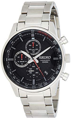 Seiko Chronograph Herren-Uhr Edelstahl mit Metallband SSB313P1