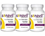 Tinnitus Relief Including Ringing in Ears, clicking, Roaring, Buzzing with All Natural Sonavil Science and Nature Blended togather for You Pack 3