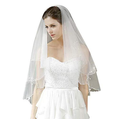 bridal short lace wedding veil